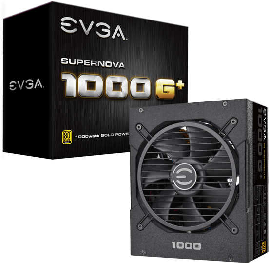 EVGA 120GP1000X1 120-GP-1000-X1 1000W G1+ Power Supply Supernova 843368048617