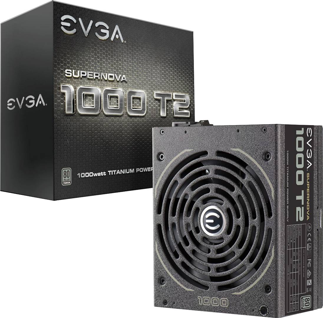EVGA 220T21000X1 220-T2-1000-X1 1000W Supernova T2 Power Supply Nothing Beats Titanium 843368035136